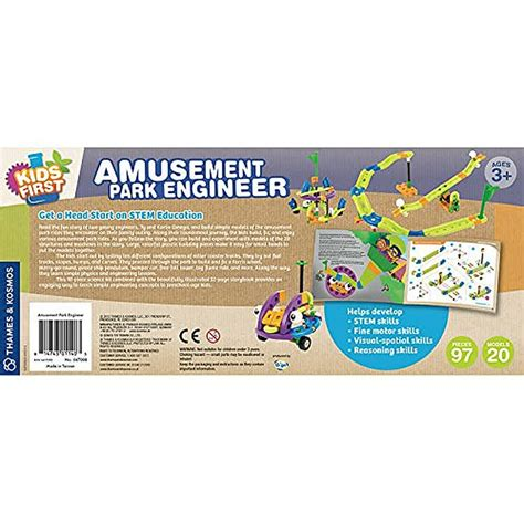 theme park engineering kids first amusement park engineer building kit
