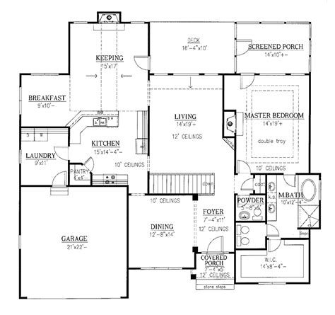 lovely single level home plans 1 one level house plans