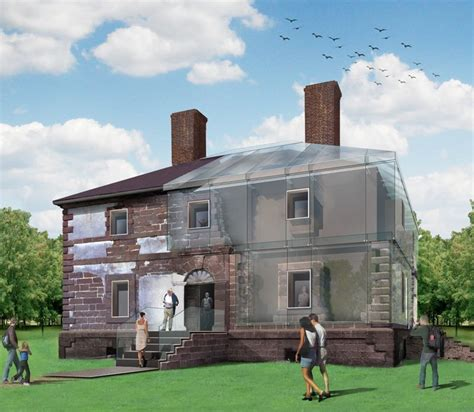 house restoration menokin 18th century residence to be restored with glass