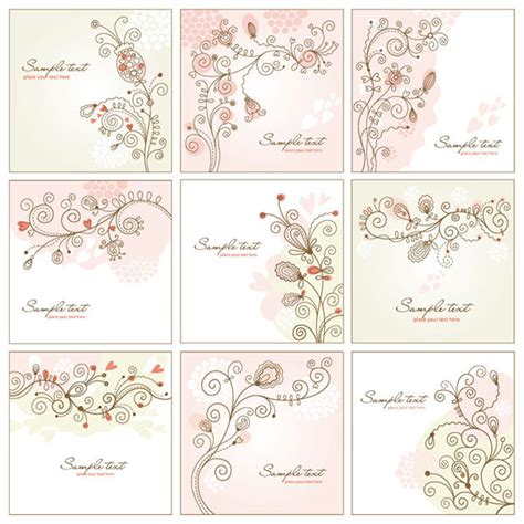Animal Ornaments by Vector Art Shabby Chic Floral Vector Art Set 9 Designs