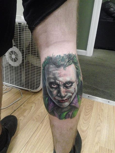 joker tattoo reddit my heath ledger joker portrait done by jeremy at needle