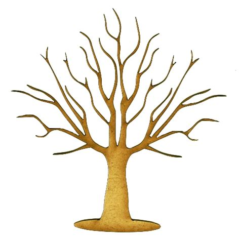 skeleton tree mdf wood shape style 7