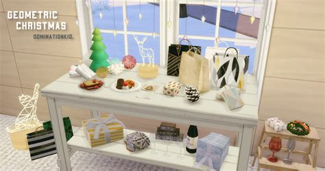 sims 3 christmas decor cc my sims 4 geometric decor set by dominationkid