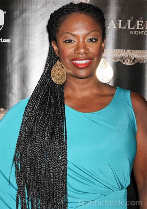 Kandie Burrus Braids | celeb hairstyle kandi burruss rocks long skinny braids