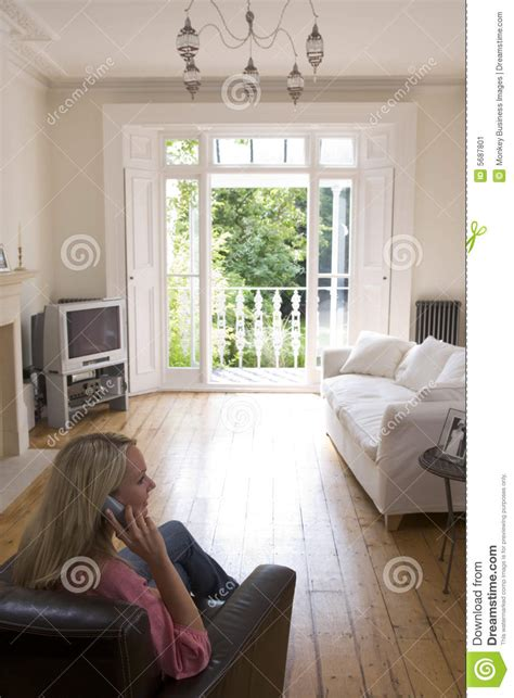 talking rooms in living room talking on telephone royalty free stock photography cartoondealer