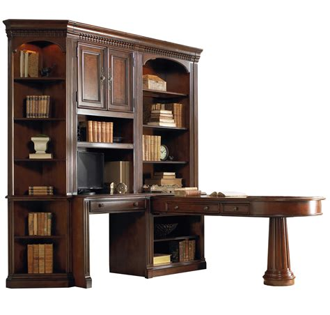 wall unit office furniture furniture european renaissance ii office wall unit with dual access peninsula desk wall