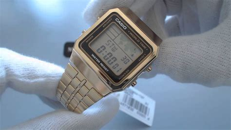 Casio A500wga 1 Original S Gold Tone Casio World Time Stainless Steel