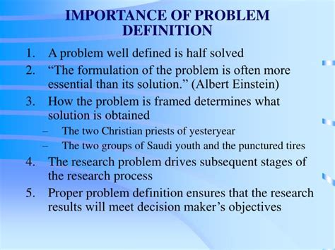 Well Outlined Meaning by Ppt Problem Definition And The Research Reference Zikmund Babin Chapter 5