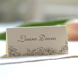 personalised lace design name cards by beautiful day notonthehighstreet