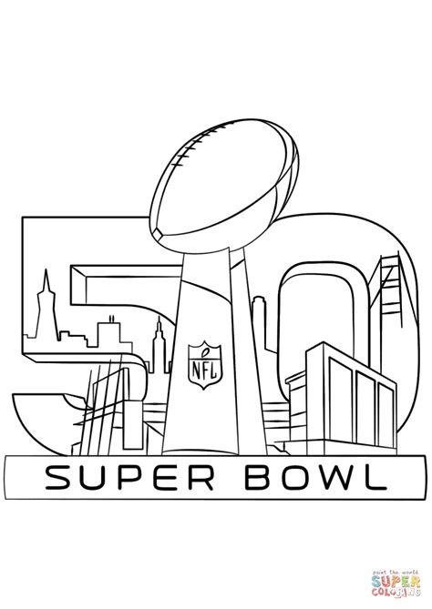 Super Bowl Coloring Page 2016 | super bowl 2016 super coloring