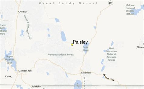 paisley oregon map paisley weather station record historical weather for