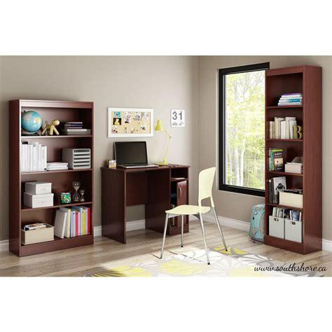 south shore furniture axess small desk royal cherry south shore axess desk in royal cherry 7246075 the home