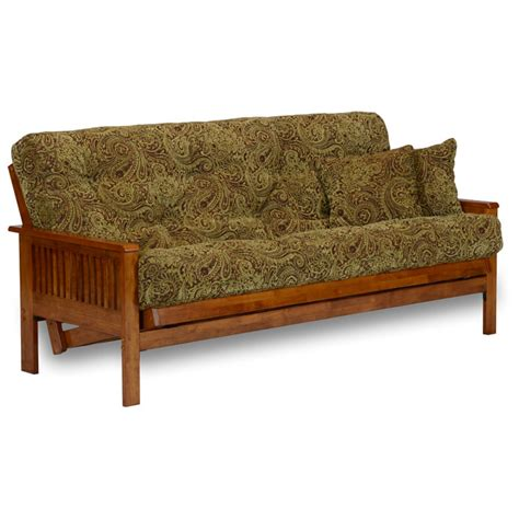 Free Futons by Ritz Wood Futon Frame Set With Free Pillows Dcg Stores