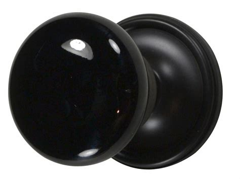 Black Interior Door Knobs by Black Porcelain Door Knob Rubbed Bronze Plate