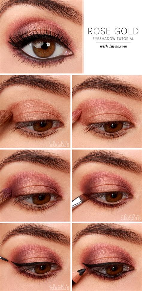 10 Steps For Makeup Look by Lulu S How To Gold Eyeshadow Tutorial Lulus