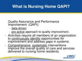 what is a nursing home ppt quality assurance and performance improvement qapi
