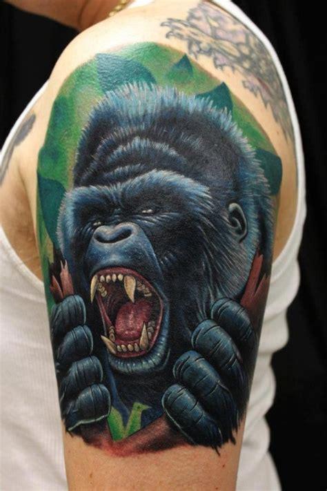 tattoo of us gorilla gorilla tattoo tattoos pinterest
