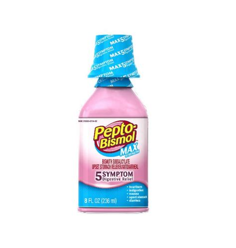 Pepto Stool by Pepto Bismol Max Strength Liquid 8 Oz Pharmapacks
