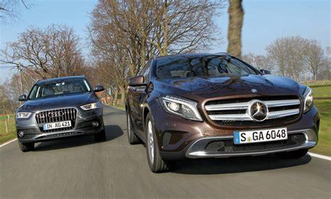 Autoversicherung Q3 by Mercedes Gla 250 Vs Audi Q3 2 0 Tfsi Quattro Suv Vergleich