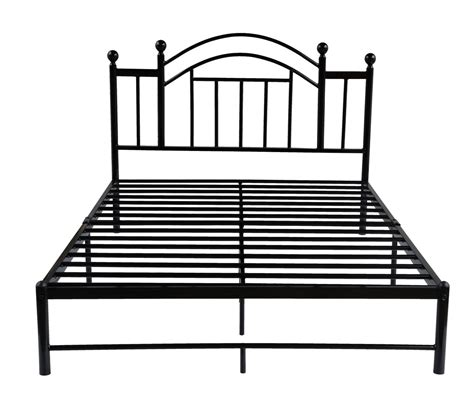 queen size metal bed frame black platform bed 2 jpg