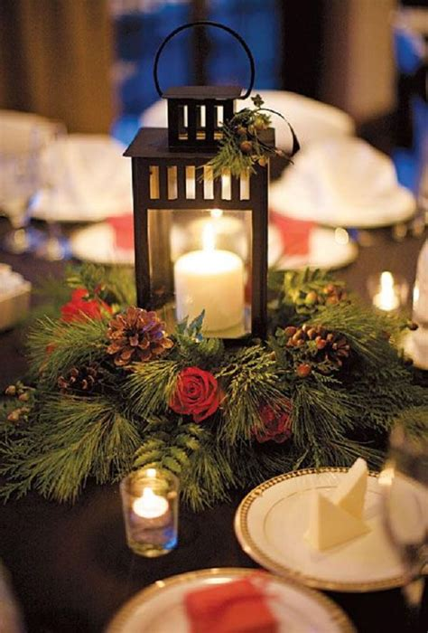 red  green scandinavian winter wedding ideas deer