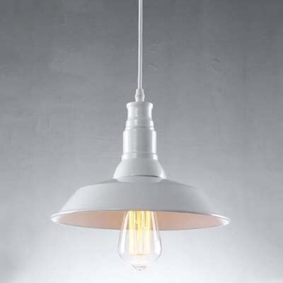 Barn Style Pendant Lighting 10 Wide White Finished Single Light Industrial Barn Style Pendant Light Beautifulhalo