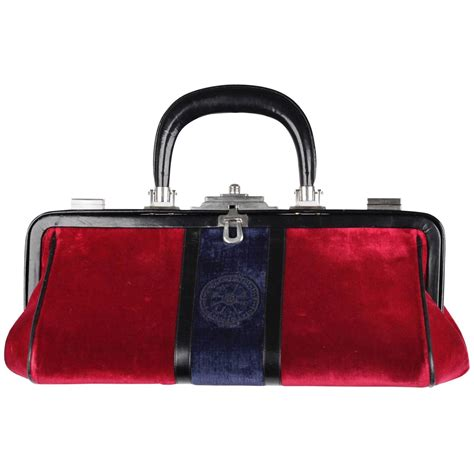 Fashion Doctor Bag Y 1 roberta di camerino vintage and blue velvet bagonghi doctor bag for sale at 1stdibs