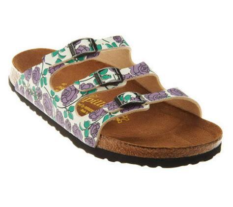 qvc sandals clearance papillio by birkenstock florida print sandals qvc