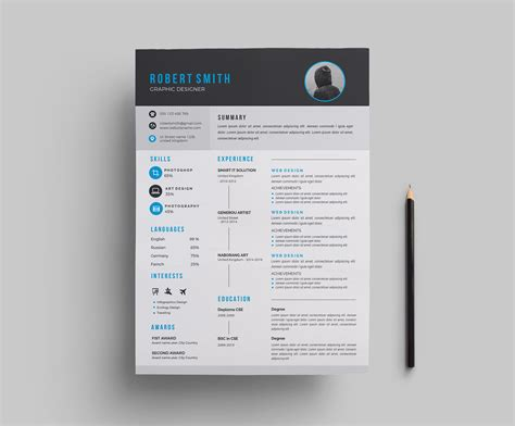 Modern Resume Design by Modern Resume Template Design 000699 Template Catalog