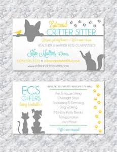 pet sitting business cards pet sitting business card animal business card pet