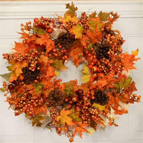 autumn wreaths new fall wreaths for 2015 silk flowers floral home decor