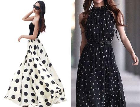Longdress Polka how to wear polka dots