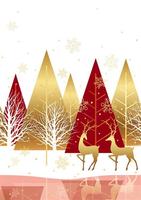 seamless winter forest background  reindeer
