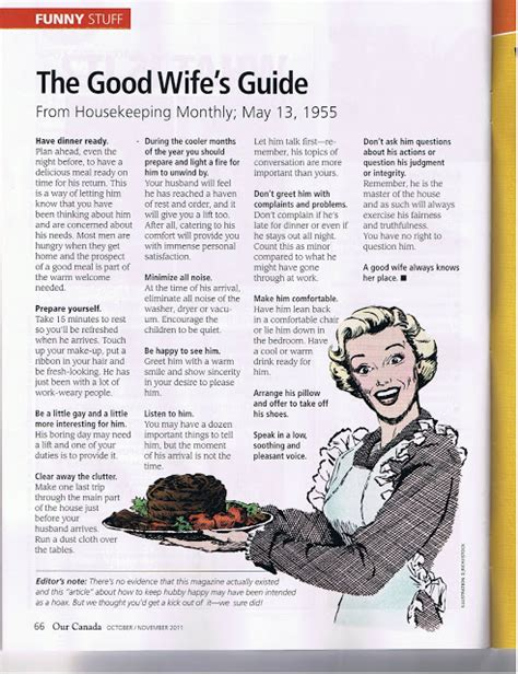good housewife guide the good wife s guide from the 50s nurse loves farmer