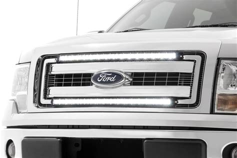 ford f150 light bar mounts 30 inch single row cree led grille kit for 2009 2014 ford