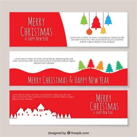 templates for christmas banners colored christmas banners template vector free download