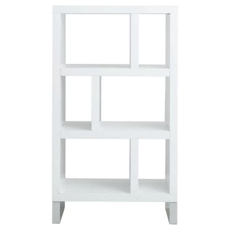 buy costilla 3 shelf bookcase white gloss from our