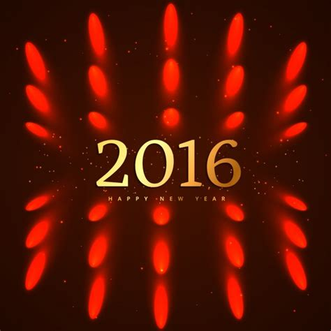 new year 2016 vector free new year 2016 background with lights vector free