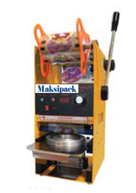 Penutup Plastik Kemasan Sealer Sealed mesin cup sealer semi otomatis mesin pengemas maksipack