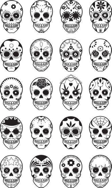 sugar skull design template embroiderie skulls i m useing these as stencils to make a