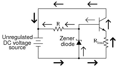 voltage regulator using zener diode and bjt lessons in electric circuits volume iii semiconductors chapter 4