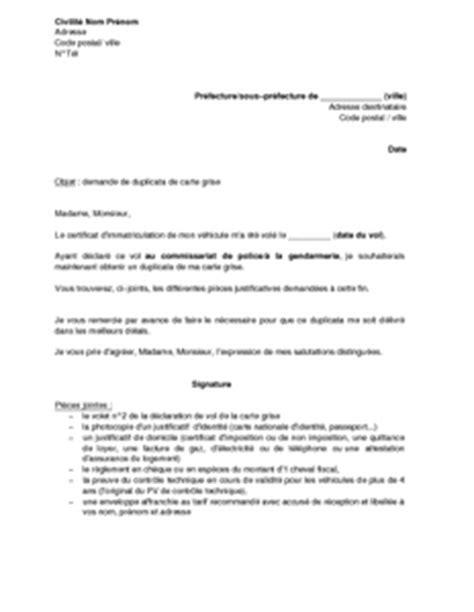 Exemple De Lettre De Demande De Nomination à Un Poste Exemple Gratuit De Lettre Demande Duplicata Carte Grise Vol