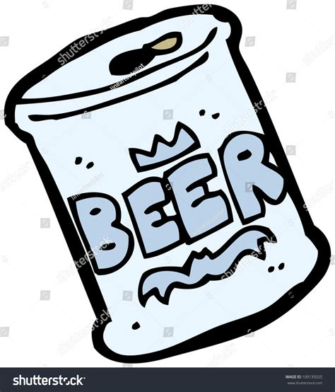 cartoon beer can cartoon beer can stock illustration 109135025 shutterstock