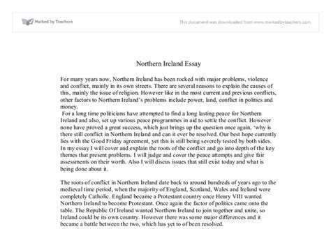 History Of Education In Ireland Essays by Northern Ireland Essay Gcse History Marked By Teachers