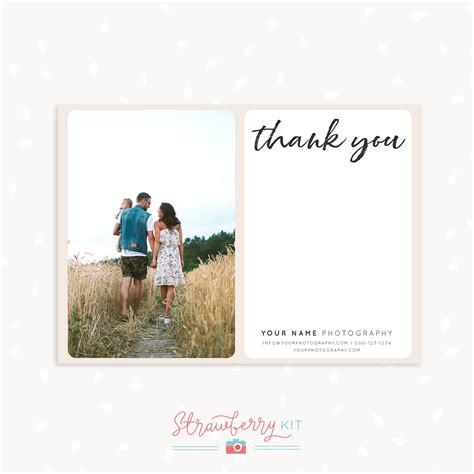 thank you card template for photographers handwritten thank you card template photographers