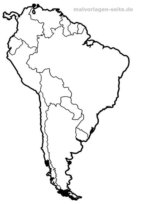 Carte de l'Amérique du Sud à colorier   Coloriage gratuit