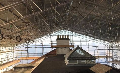temporary roofing scaffolding temporary roof design devon