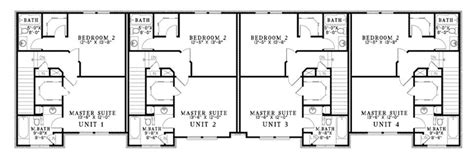 fourplex floor plans 2 bedroom 2 bath fourplex plans joy studio design