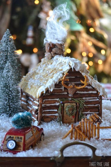 pixie lane gingerbread log cabin