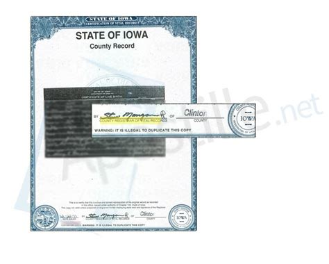 Des Moines Birth Records 17 Best State Of Iowa Sle Apostille Images On